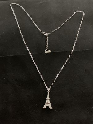 """Sterling Silver Eiffel Tower pendant and necklace 18"""" for Sale in Inglewood, CA"""