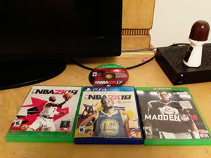 NBA 2k17 (xbox), NBA 2k18 (playstation), NBA 2K18 (xbox), and Madden 18 (xbox) for Sale in Kissimmee, FL
