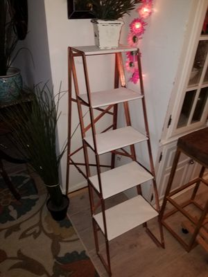 Wood Metal Folding Ladder Shelf for Sale in Edgemoor, DE