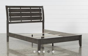 Brand New Chad Grey Full Panel Bed Frame. Missing Wood Slats for Sale in Irwindale, CA