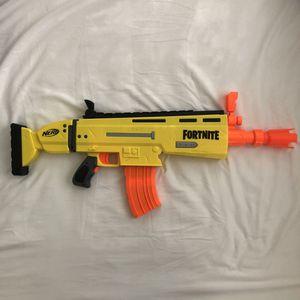 Fortnite NERF Gun Scar AR-L Elite Blaster Soft Foam Darts for Sale in Chino, CA