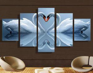5PC HD Swan Canvas Print home decor for Sale in Richmond, VA