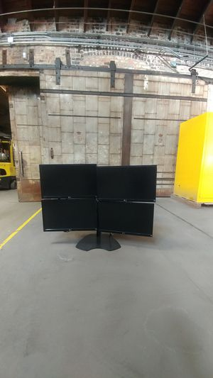 Quad computer stand with 4 monitors for Sale in Westmont, IL