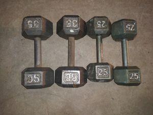 Dumbbells 35s & 25s set for Sale in Houston, TX