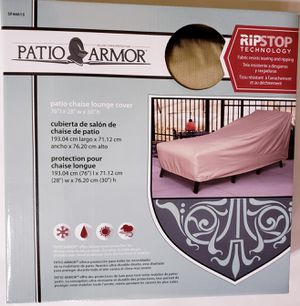 Patio Armor Surefit Chaise Lounge Cover SF46613 Ripstop for Sale in Columbus, OH