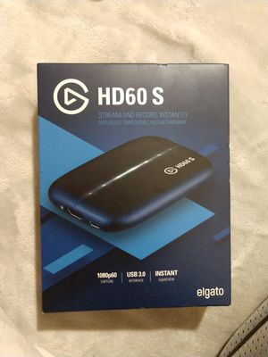 Elgato Game Capture HD60 S - Stream and Record in 1080p60, for PlayStation 4, Xbox One & Xbox 360 for Sale in Palm Springs, CA
