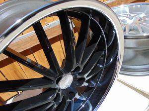 New 19X8.5 Black with Chrome Lip Concept One Rims 5X120 *15MM Offset for Sale in Aurora, CO