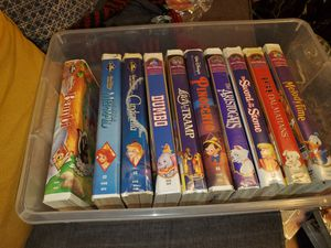 10 Rare Disney VHS Movies Some Black Diamond Editions for Sale in Hampton, VA