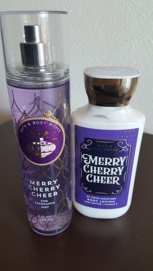 Bath & Body Works Merry Cherry Cheer Fragrance Mist & Body Lotion for Sale in Etiwanda, CA