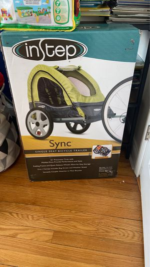 single seat bicycle/bike trailer IN BOX, new, never opened for Sale in Queens, NY