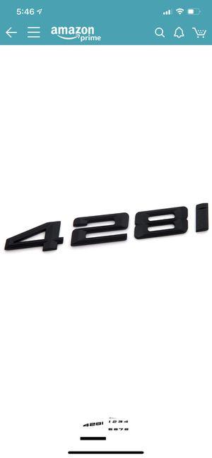 BMW 428i Matte Black Trunk Letters for Sale in Alexandria, VA