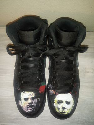 Custom Halloween (Michael Myers, Leatherface, Freddy, Jason) Nike Air Force 1 High and Shirt for Sale in Jacksonville, FL