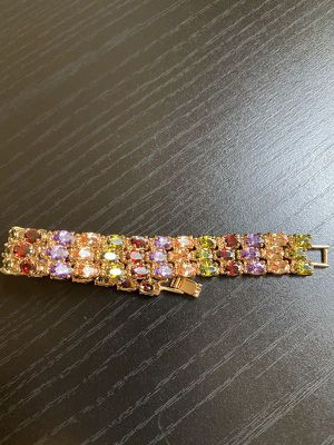 Gold plated Swarovski Color Bracelet Cushion Style Ring Set for Sale in Dallas, TX
