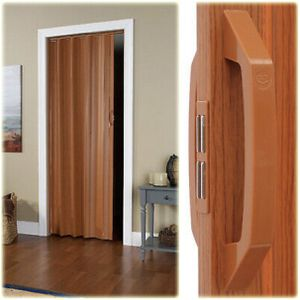 VINYL ACCORDION FOLDING SLIDE DOOR Durable Panels Closets Tight Spaces Fruitwood for Sale in Las Vegas, NV