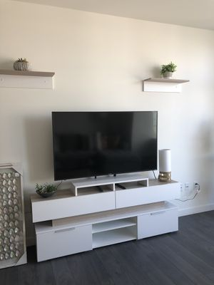 TV stand with storage and 2 floating shelves for Sale in Denver, CO
