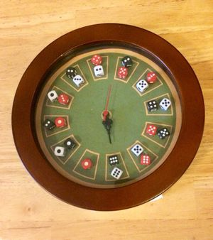 Pool Table Dice Home Decor Clock for Sale in Chicago, IL