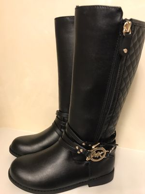 Brand new, girls size 12 Michael Kors Tall Black Boots for Sale in Sacramento, CA