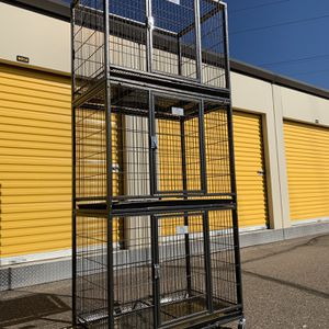 3-Tier Heavy duty kennels 🐶 w/ Steel construction 💪 plastic trays 🐶 casters 🐶 see dimensions in second picture 🐶 🛍🇺🇸🎉⭐️🛒🎁 for Sale in Phoenix, AZ