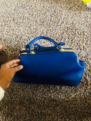 Bleu Michael Kors handbag, sandals heels for Sale in Philadelphia, PA