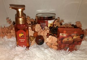 Bath & Body Works Hand Soap, Candle, and WallFlower Refills Fall Bundle for Sale in Apple Valley, CA