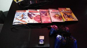 PS2, 2 controller, 5 games,sd card but broken,power and charger for Sale in Fort Worth, TX