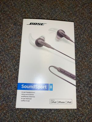 Bose Soundsport headphones with phone mic for Sale in Stevenson Ranch, CA