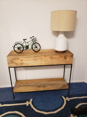 West Elm Industrial Console Table in Mango for Sale in Edison, NJ