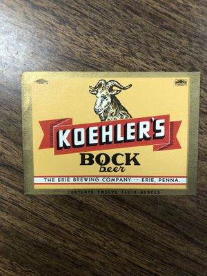 Koehler Beer Labels. Never used for Sale in Erie, PA