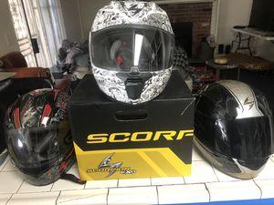 Motorcycle gear - icon jacket. Scorpion helmets. Shogun Frame sliders. for Sale in Fontana, CA