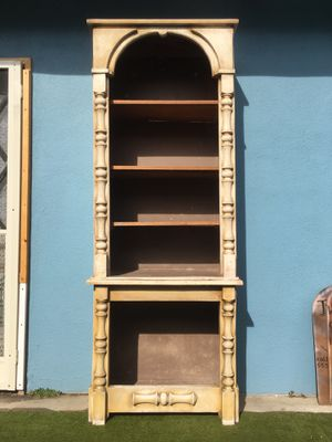 Curio Furniture Cabinet storage shelves vintage Wooden / fiber glass for Sale in Monterey Park, CA
