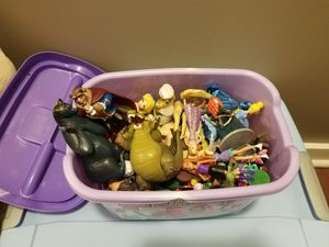 Bucket of Disney figurines for Sale in Andover, MA