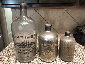 Restoration Hardware antique bottles. for Sale in Manor, TX