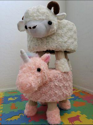Plush Unicorn Stool $35 for Sale in Garland, TX