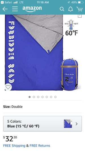 New double sleeping bag for Sale in Los Angeles, CA