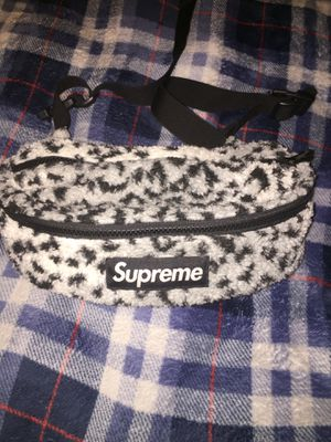 Supreme leopard fleece waist bag for Sale in Pittsburgh, PA