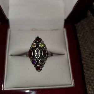 Silver & multiple different colors gemstone ring for Sale in Richmond, VA