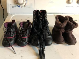 Assorted little girls boots for Sale in Penn Hills, PA