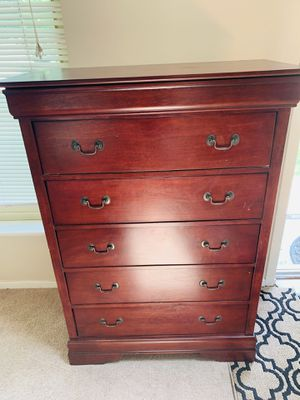 Tall dark cherry dresser for Sale in Northville, MI