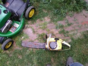 McCulloch chainsaw Mac pro 10-10 needs work think coil is bad got new saw 50$ for Sale in Columbus, OH