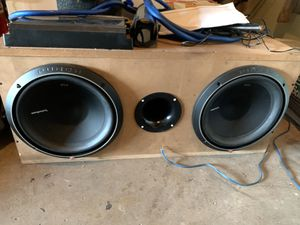 2 12's Rockford fosgates P2's with amp for Sale in Winter Haven, FL