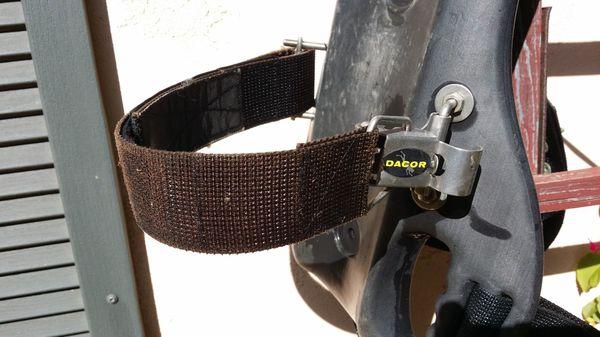 Scuba backpack by Dacor, vintage gear