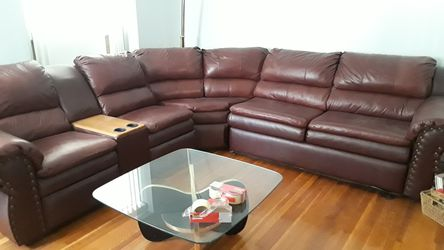 Leather sleeper sectional two recliners for Sale in Philadelphia,  PA