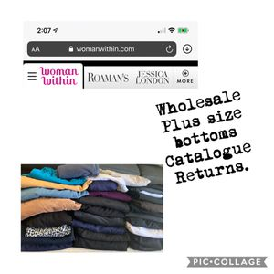 Wholesale 30pcs Women's Plus Size Bottoms. New without tags. for Sale in Cypress, CA