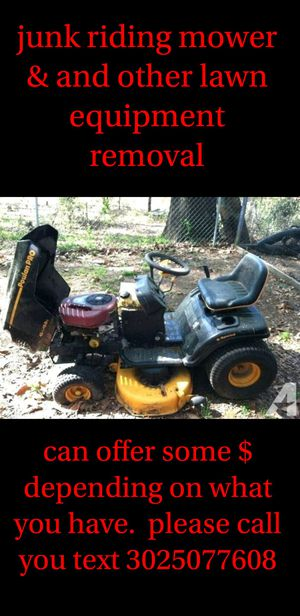 Riding lawn mower & other lawn equipment removal for Sale in New Castle, DE