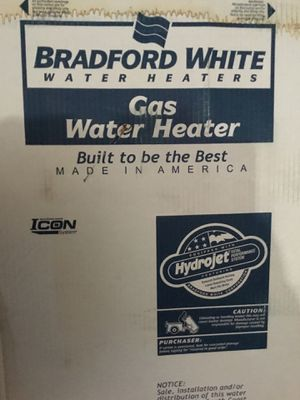 $299 OBO. Bradford White 40 gallon gas water heaters. Brand new in the box.Pick up only. for Sale in Las Vegas, NV