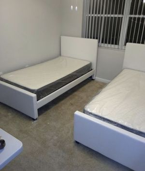 2 Twin Size Bed. frame new in the box with the mattress free delivery for Sale in Medley, FL