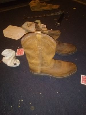 Work steel toe boots worn 2× for Sale in Fresno, CA