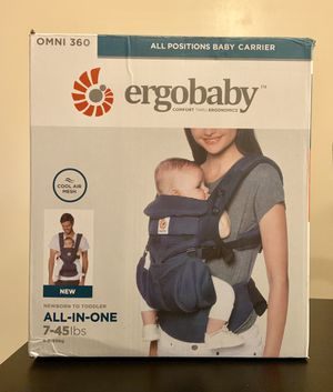 Ergobaby Carrier, 360 All Carry Positions Baby Carrier with Cool Air Mesh, BLUE for Sale in Miami, FL