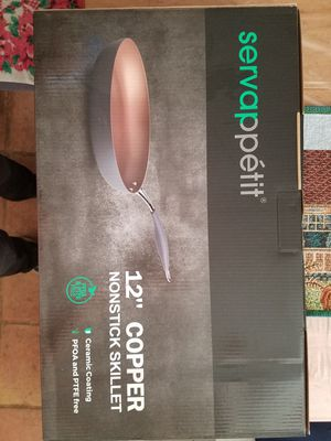 "Servappétit 12"" Copper Nonstick Skillet for Sale in Phoenix, AZ"