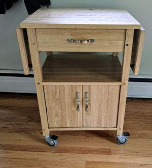 Solid wood rolling cart for Sale in Fairfax, VA